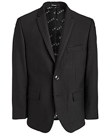 Big Boys Classic-Fit Stretch Black Houndstooth Sport Coat