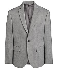 Big Boys Classic-Fit Stretch Black/White Herringbone Sport Coat