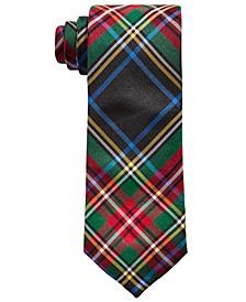 Big Boys Classic Navy Blue Tartan Silk Tie