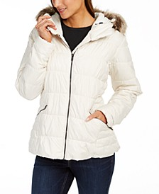 Sparks Lake™ Hooded Faux-Fur-Trim Coat