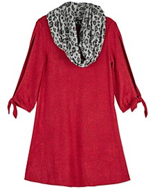 Big Girls 2-Pc. Animal-Print Scarf & Shift Dress