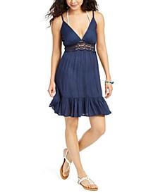 Sleeveless Flutter-Hem Cover-Up Dress