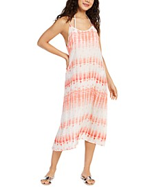 Tie-Dyed Printed Swim Cover-Up Dress