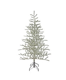 5' Silver Tinsel Twig Artificial Christmas Tree - Unlit