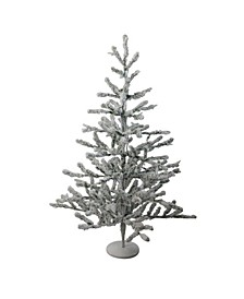 "36"" Flocked Alpine Coral Artificial Christmas Tree - Unlit"