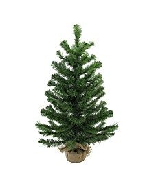 "28"" Balsam Pine Artificial Christmas Tree in Burlap Base - Unlit"