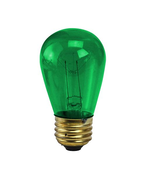 Northlight Pack of 25 incandescent S14 Green Christmas Replacement Bulbs