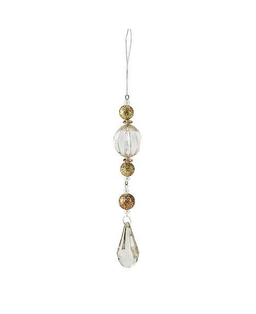 Northlight Gold-Tone and Gem Glitter Pendant Drop Christmas ornament