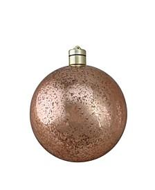 "6"" Pre-Lit Rose Gold Ball Christmas Ornament - Warm White Lights 150mm"