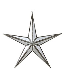 """11"""" Mirrored Five Point Star Christmas Ornament"""