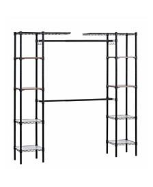 Steel Garment Rack with Adjustable Shelves