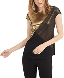 Metallic Colorblocked Top, Created For Macy's