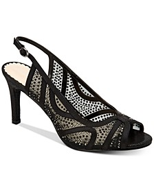 Women's Lexiaa Mesh Evening Heels, Created for Macy's