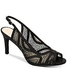 Women's Lexiaa Mesh Evening Heels, Created for Macy's