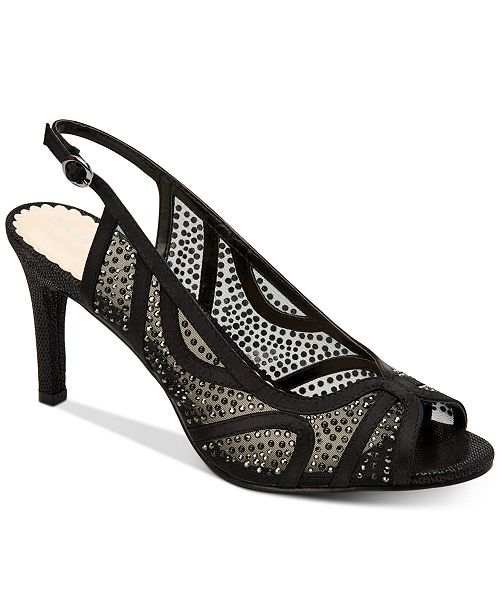 Charter Club Women's Lexiaa Mesh Evening Heels, Created for Macy's
