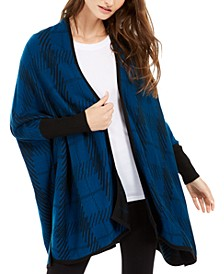 Plaid Poncho Cardigan, Created For Macy's
