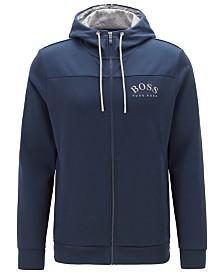 BOSS Men's Zip-Through Hooded Sweatshirt