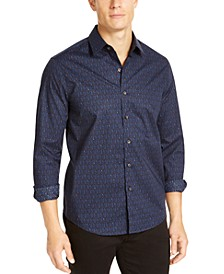 Men's Stretch Paisley Print Woven Shirt, Created For Macy's
