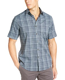 Men's Stretch Dobby Short Sleeve-Woven Shirt, Created For Macy's