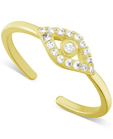 Crystal Evil Eye Toe Ring in Gold-Plate
