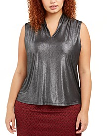 Plus Size V-Neck Top