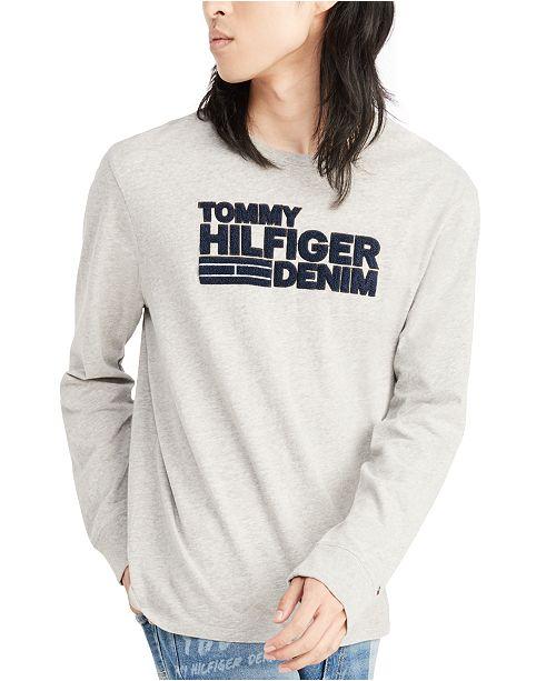 Tommy Hilfiger Men's Frontier Logo Long Sleeve T-Shirt