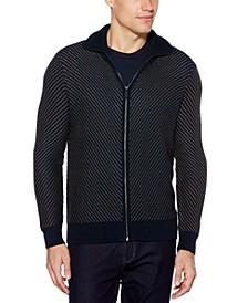 Men's Chevron Stitch Full Zip Sweater