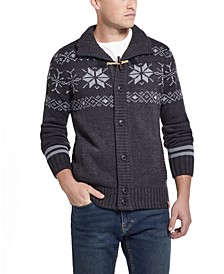 Men's Snowflake Cardigan Sweater