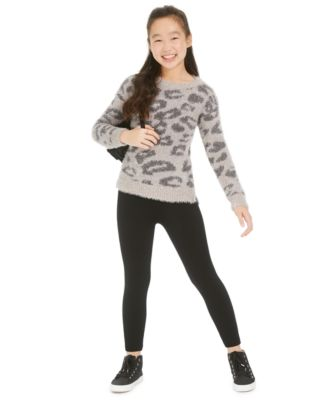 Big Girls Leopard Sweater, Created For Macy's