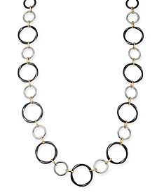 "Tri-Tone Multi-Loop Strand Necklace, 36"" + 2"" extender, Created For Macy's"