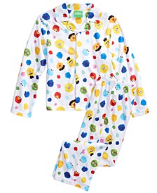Isaac Mizrahi Loves SesStreet Little & Big Boys 2-Pc. Pajama Set