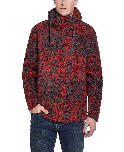 Weatherproof Vintage Men's Funnel Neck Hooded Sweater