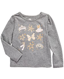 Little Girls Ballet Crown Long Sleeve T-Shirt, Created For Macy's