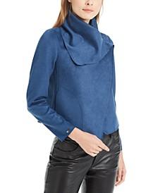 Faux-Suede Asymmetrical Jacket