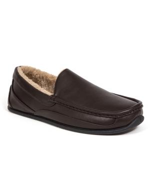 Slipperooz Men's Spun Indoor Outdoor S.u.p.r.o. Sock Cozy Moccasin Slipper