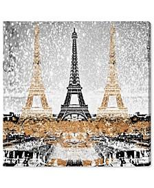 Triple Paris Gold Canvas Art Collection