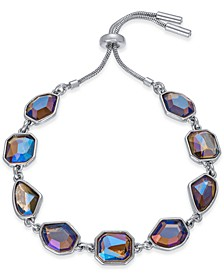 Silver-Tone Stone Bolo Bracelet, Created For Macy's