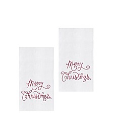 Merry Christmas Script Kitchen Towel, Set of 2