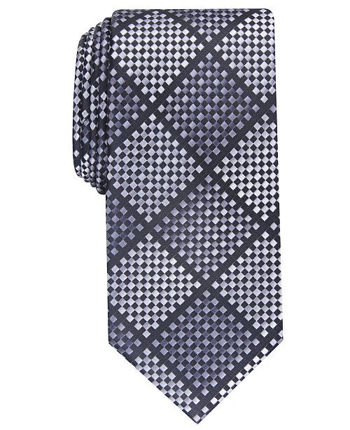 Perry Ellis Men's Erie Check Tie