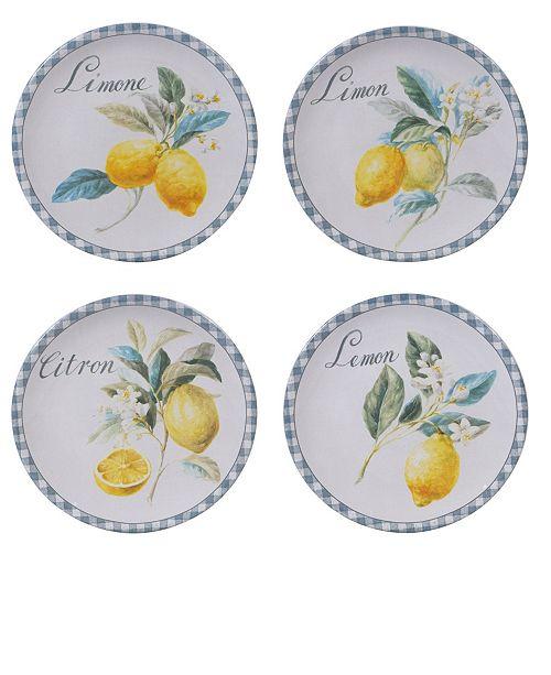 Certified International Citron 4-Pc. Salad Plate asst.