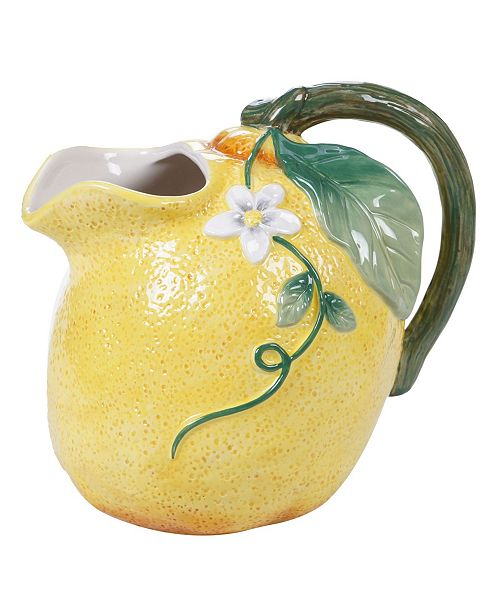 Certified International Citron 3-D Lemon Pitcher