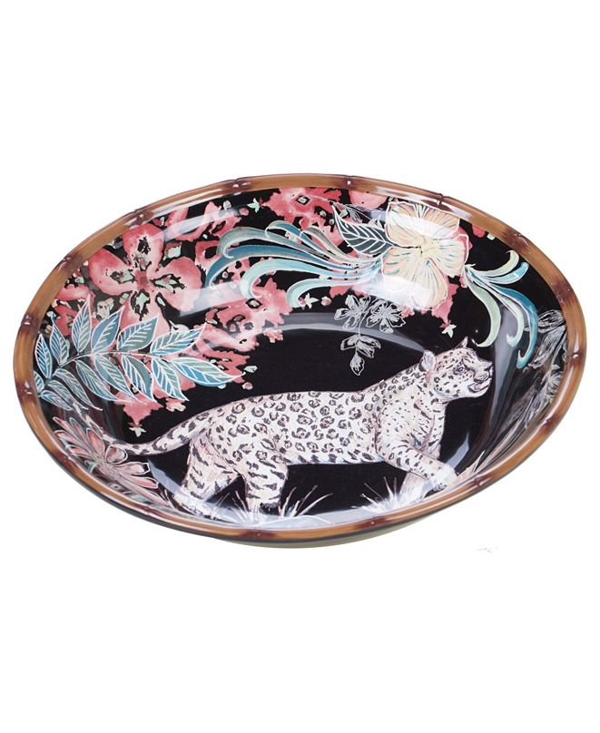 Certified International Exotic Jungle Serving Bowl
