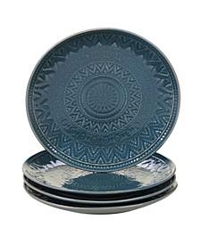 Aztec Teal 4-Pc. Salad Plates