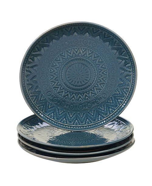 Certified International Aztec Teal 4-Pc. Salad Plates