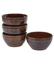 Aztec Brown 4-Pc. Ice Cream Bowls