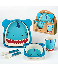 Shark Eco Friendly Bamboo Fiber 5-Pc. Kids Dinnerware Set
