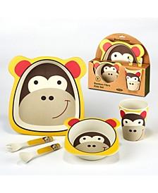Monkey Eco Friendly Bamboo Fiber 5-Pc. Kids Dinnerware Set