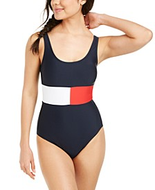 Colorblocked One-Piece Swimsuit
