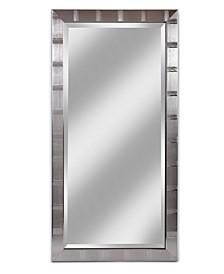 "Alpine Christopher Silver 22"" x 42"" Beveled Wall Mirror"