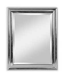 """Alpine Concert Distressed Silver 28"""" x 34"""" Beveled Wall Mirror"""